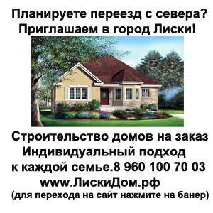 Строительство и продажа домов в г. Лиски
